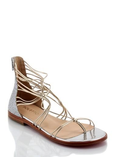 Poletto Sandalet Gümüş